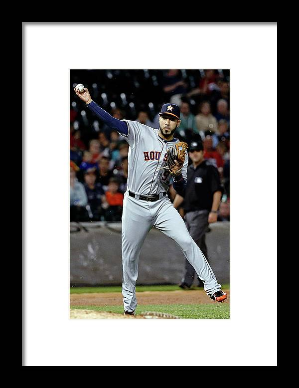 People Framed Print featuring the photograph Jed Lowrie by Jon Durr