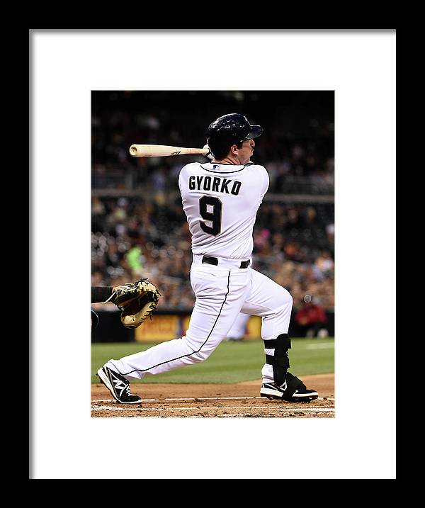 Second Inning Framed Print featuring the photograph Jedd Gyorko by Denis Poroy