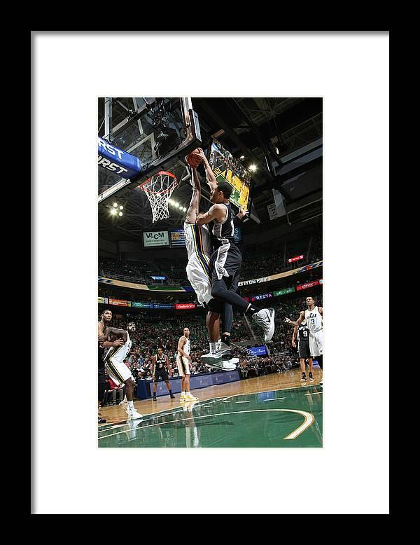 Nba Pro Basketball Framed Print featuring the photograph Jeff Ayres and Derrick Favors by Melissa Majchrzak