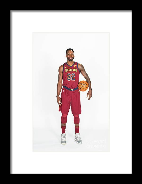 Media Day Framed Print featuring the photograph Jeff Green by Michael J. Lebrecht Ii