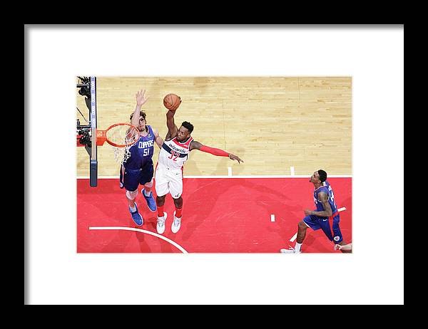 Nba Pro Basketball Framed Print featuring the photograph Jeff Green by Ned Dishman
