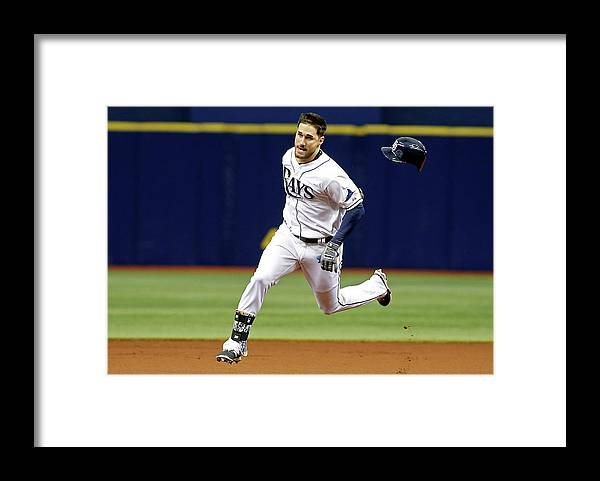 People Framed Print featuring the photograph Jeff Samardzija And Kevin Kiermaier by Brian Blanco