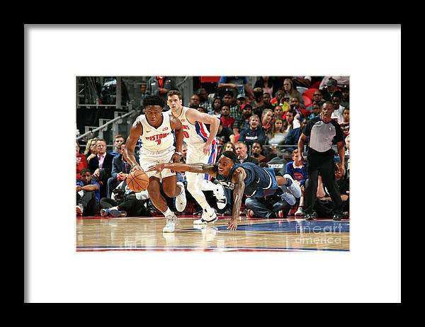 Nba Pro Basketball Framed Print featuring the photograph Jeff Teague and Stanley Johnson by Brian Sevald