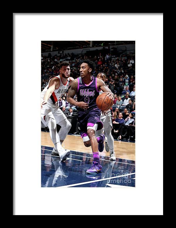 Nba Pro Basketball Framed Print featuring the photograph Jeff Teague by David Sherman