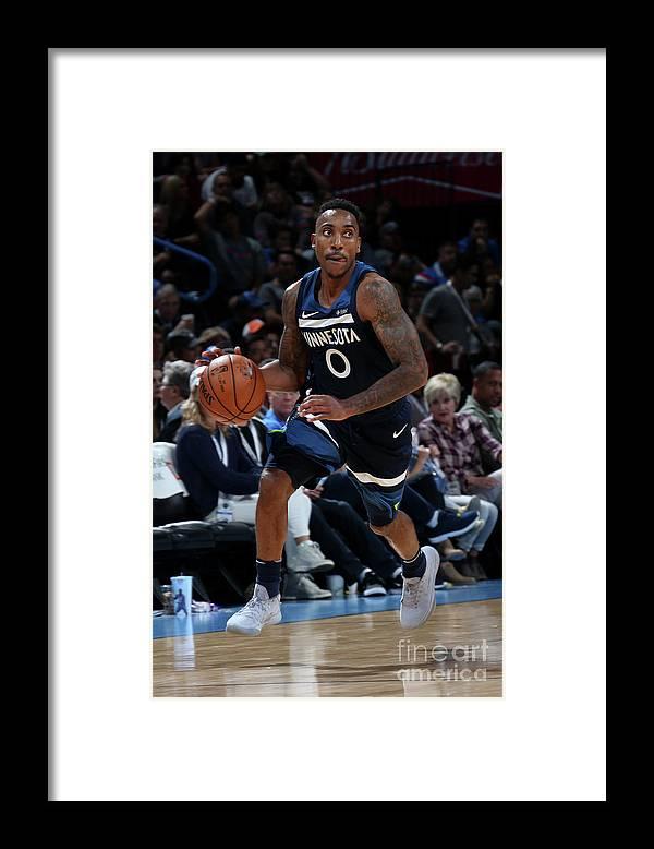 Nba Pro Basketball Framed Print featuring the photograph Jeff Teague by Layne Murdoch