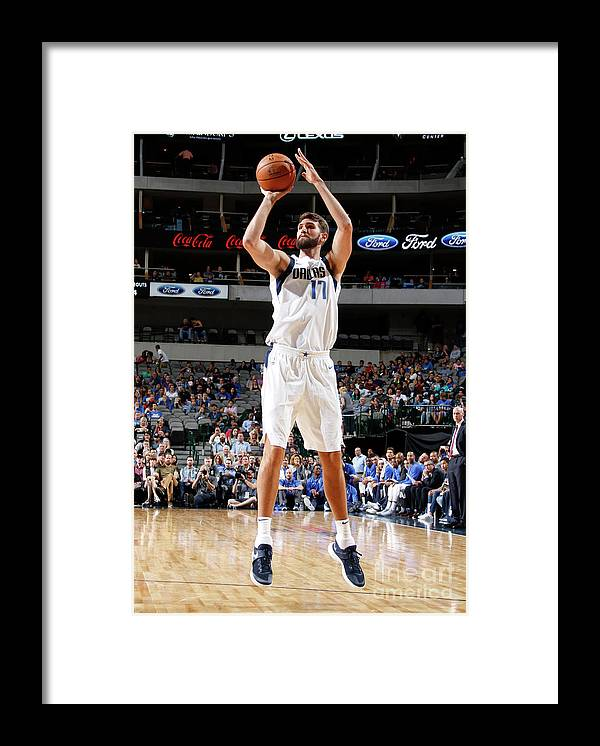 Nba Pro Basketball Framed Print featuring the photograph Jeff Withey by Danny Bollinger