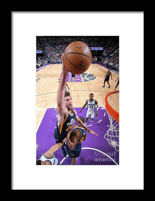 Nba Pro Basketball Framed Print featuring the photograph Jeff Withey by Rocky Widner