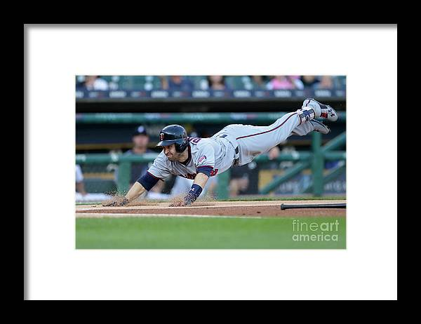 People Framed Print featuring the photograph Jeimer Candelario and Brian Dozier by Duane Burleson