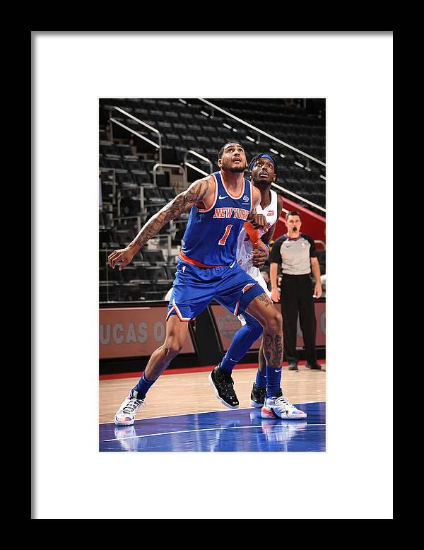 Nba Pro Basketball Framed Print featuring the photograph Jerami Grant by Chris Schwegler