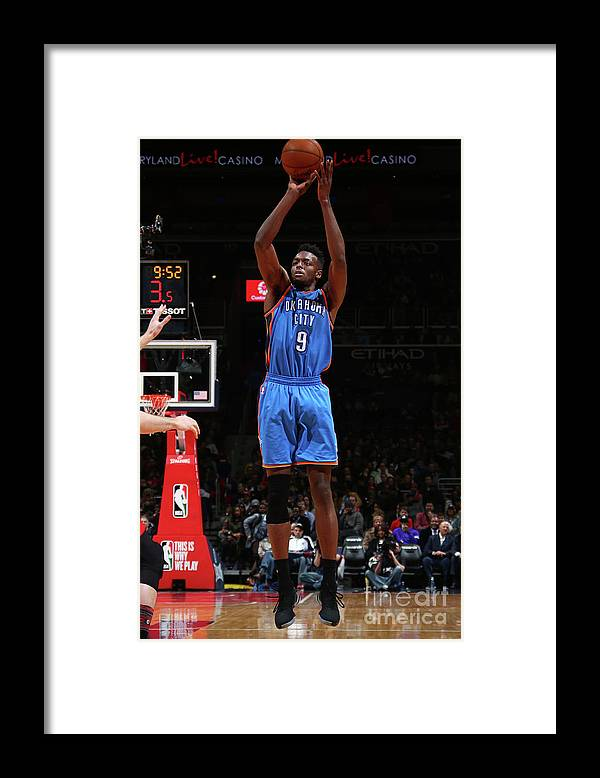 Nba Pro Basketball Framed Print featuring the photograph Jerami Grant by Ned Dishman