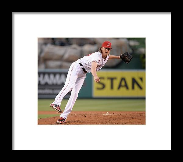 American League Baseball Framed Print featuring the photograph Jered Weaver by Harry How