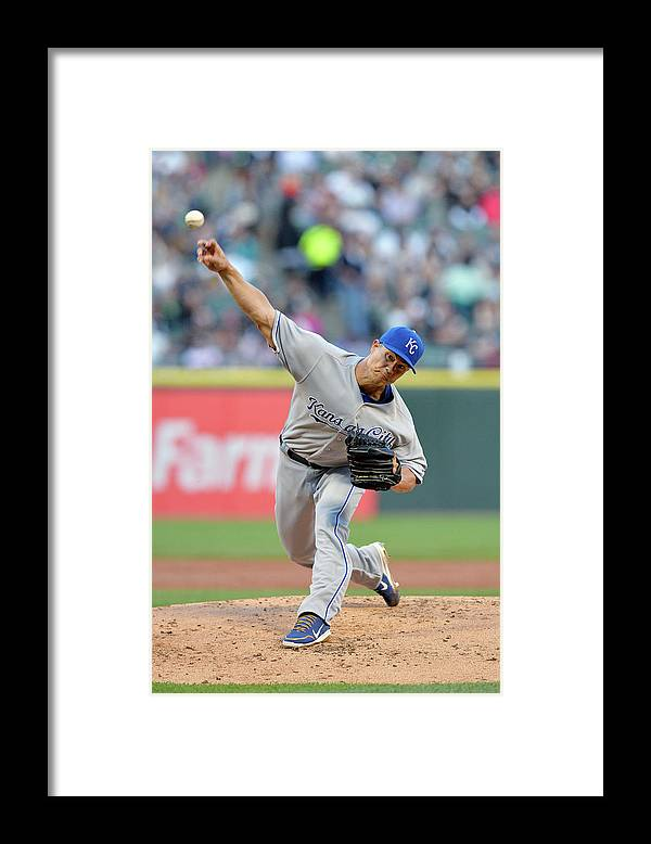 American League Baseball Framed Print featuring the photograph Jeremy Guthrie by Brian Kersey