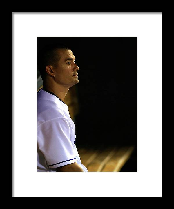 American League Baseball Framed Print featuring the photograph Jeremy Guthrie by Jamie Squire