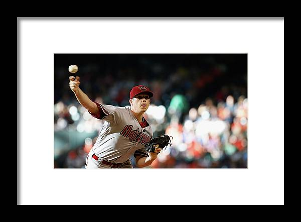 People Framed Print featuring the photograph Jeremy Hellickson by Scott Halleran