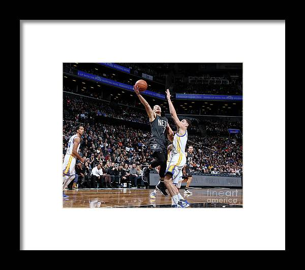 Nba Pro Basketball Framed Print featuring the photograph Jeremy Lin and Klay Thompson by Nathaniel S. Butler