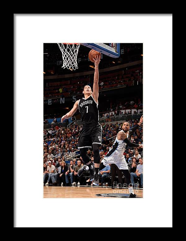 Nba Pro Basketball Framed Print featuring the photograph Jeremy Lin by Gary Bassing