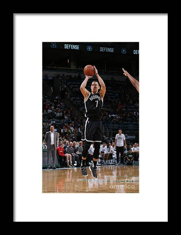 Number 7 Framed Print featuring the photograph Jeremy Lin by Gary Dineen