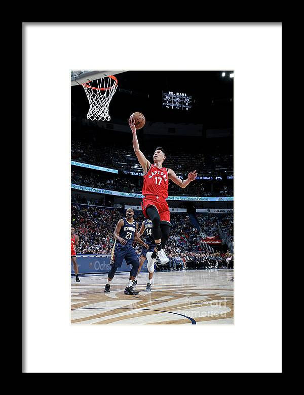 Smoothie King Center Framed Print featuring the photograph Jeremy Lin by Layne Murdoch Jr.