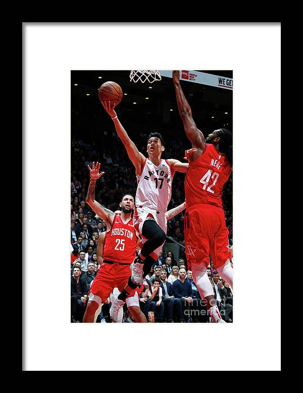 Nba Pro Basketball Framed Print featuring the photograph Jeremy Lin by Mark Blinch