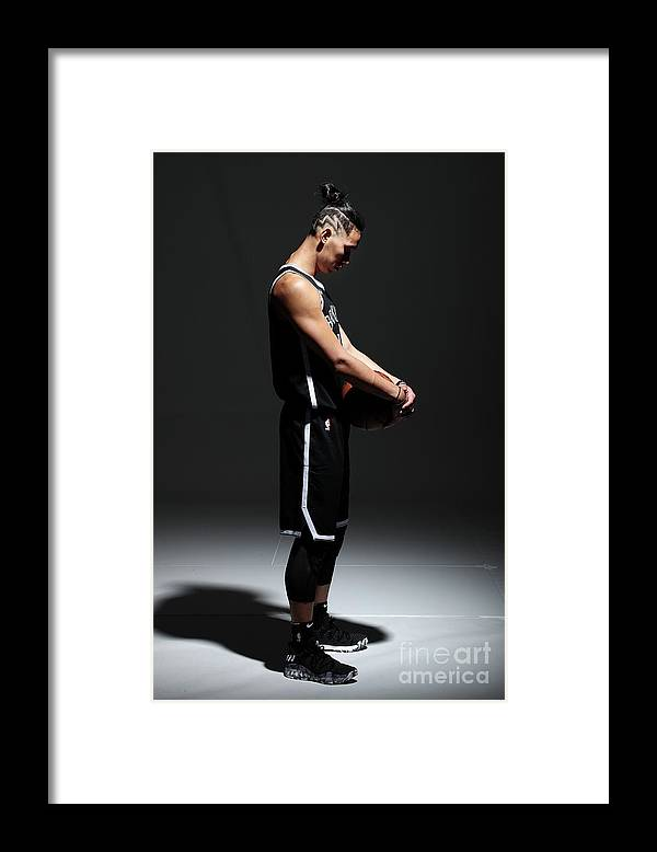 Media Day Framed Print featuring the photograph Jeremy Lin by Nathaniel S. Butler