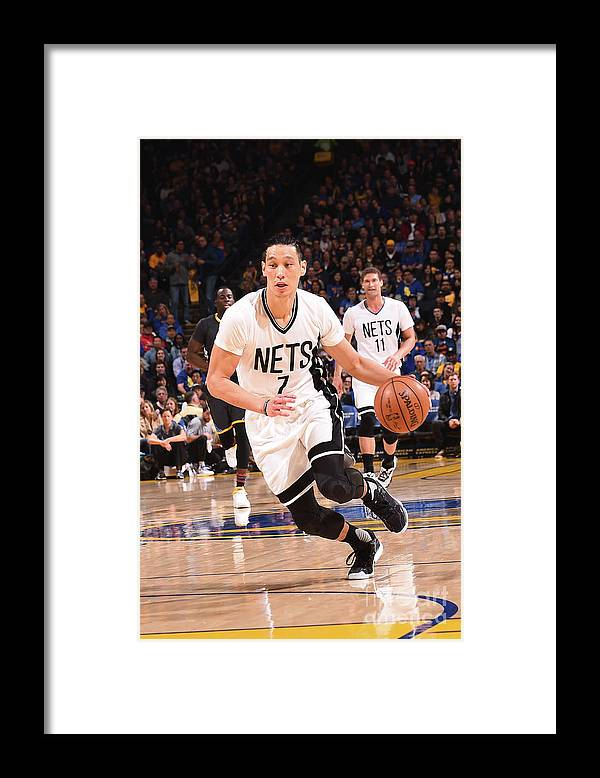 Nba Pro Basketball Framed Print featuring the photograph Jeremy Lin by Noah Graham
