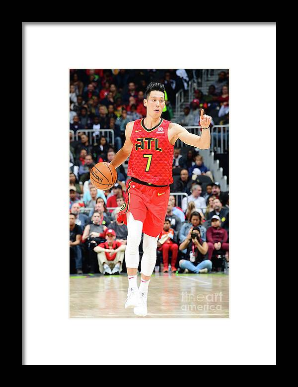 Atlanta Framed Print featuring the photograph Jeremy Lin by Scott Cunningham