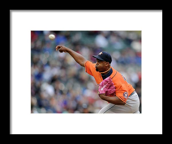 American League Baseball Framed Print featuring the photograph Jerome Williams by Hannah Foslien