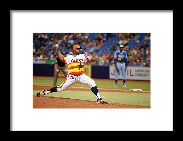American League Baseball Framed Print featuring the photograph Jerome Williams by Scott Iskowitz