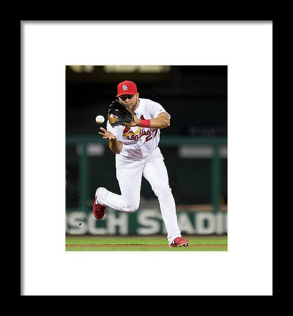 St. Louis Cardinals Framed Print featuring the photograph Jhonny Peralta by David Welker