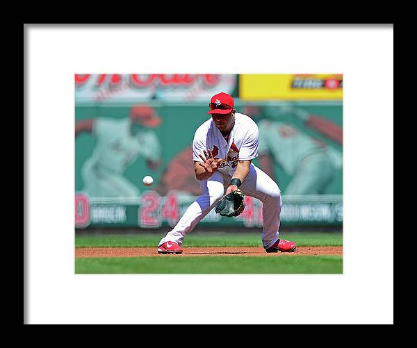 St. Louis Cardinals Framed Print featuring the photograph Jhonny Peralta by Jeff Curry