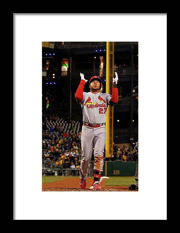 St. Louis Cardinals Framed Print featuring the photograph Jhonny Peralta by Justin K. Aller