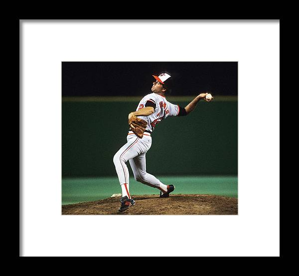 1980-1989 Framed Print featuring the photograph Jim Palmer by Ronald C. Modra/sports Imagery