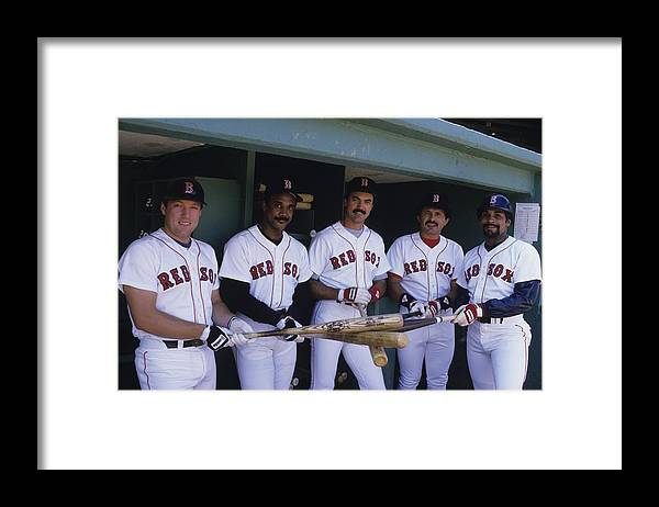 1980-1989 Framed Print featuring the photograph Jim Rice by Ronald C. Modra/sports Imagery