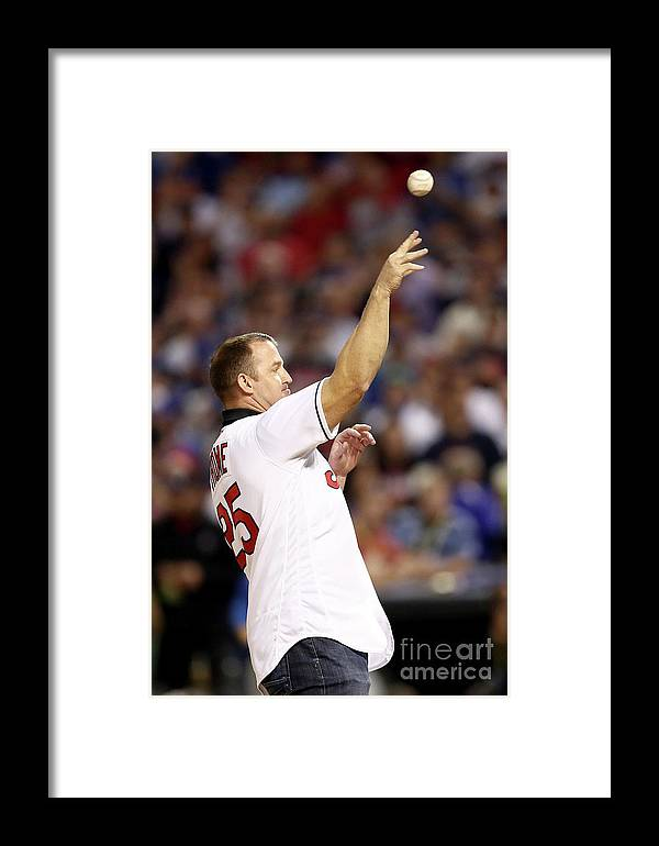 Three Quarter Length Framed Print featuring the photograph Jim Thome by Elsa