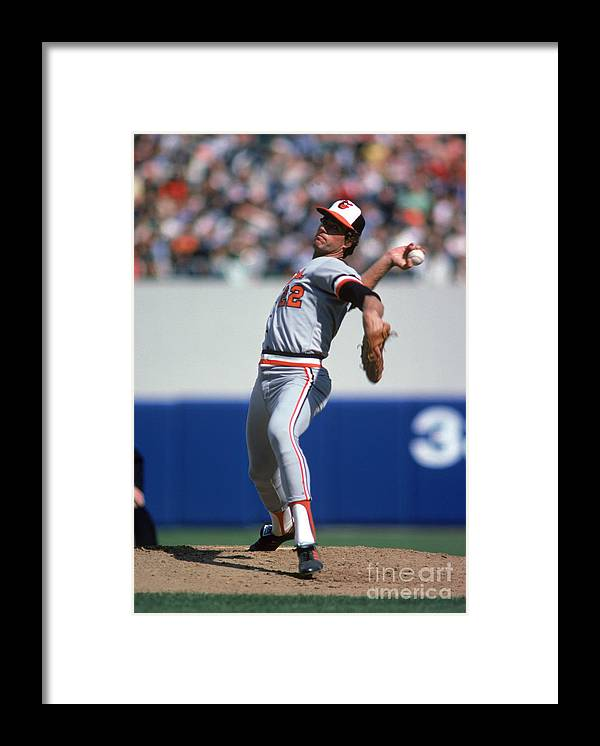 American League Baseball Framed Print featuring the photograph Jim York by Rich Pilling