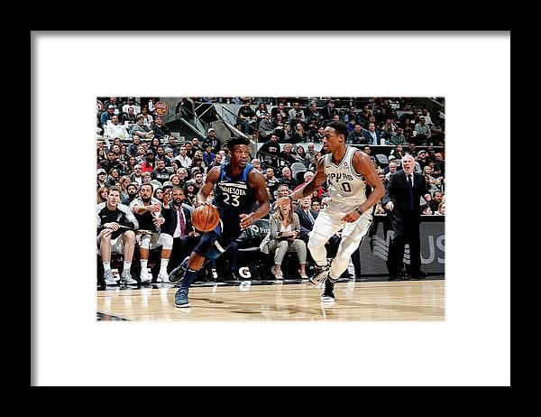 Nba Pro Basketball Framed Print featuring the photograph Jimmy Butler and Demar Derozan by Chris Covatta