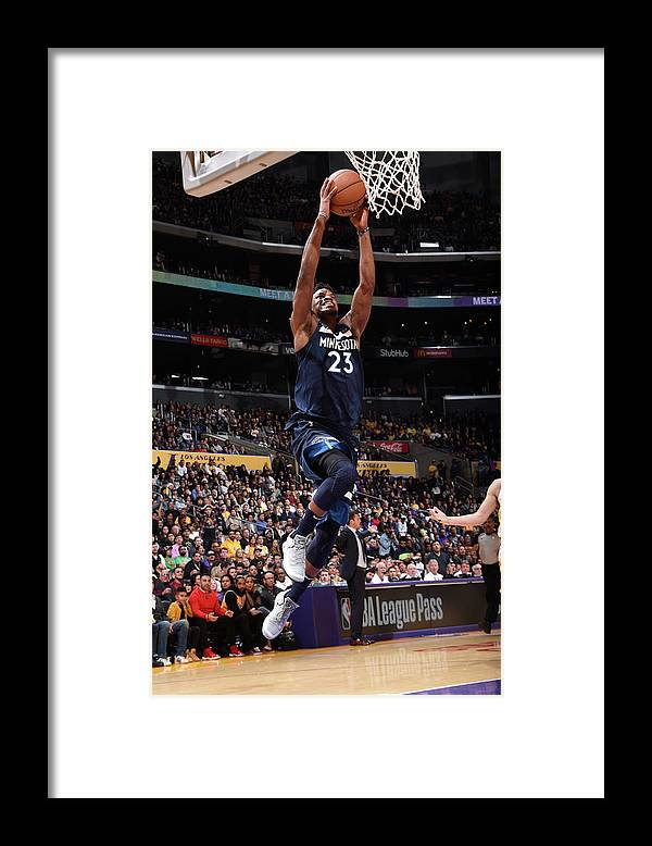 Nba Pro Basketball Framed Print featuring the photograph Jimmy Butler by Andrew D. Bernstein