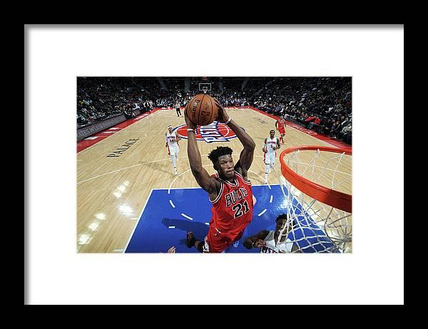 Nba Pro Basketball Framed Print featuring the photograph Jimmy Butler by Chris Schwegler