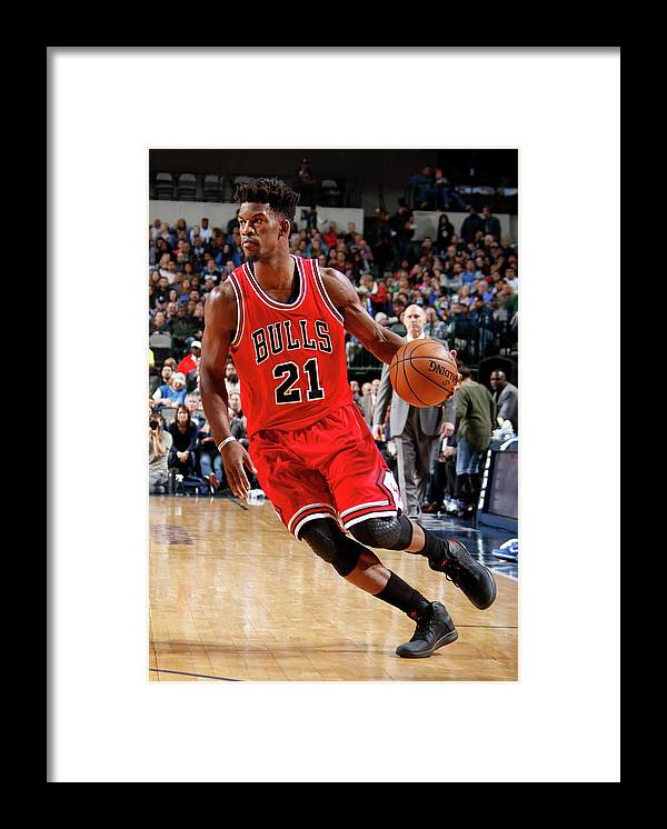Nba Pro Basketball Framed Print featuring the photograph Jimmy Butler by Danny Bollinger