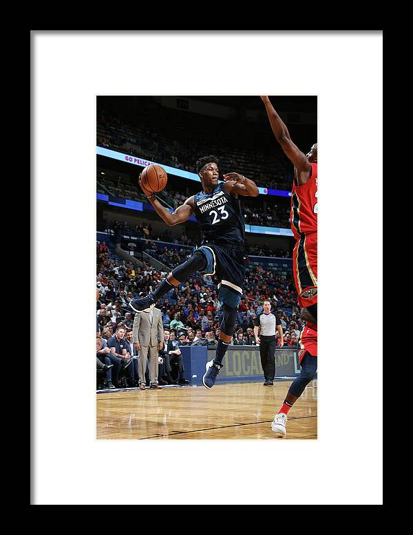 Smoothie King Center Framed Print featuring the photograph Jimmy Butler by Layne Murdoch Jr.