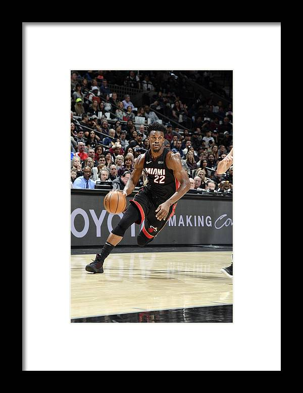 Nba Pro Basketball Framed Print featuring the photograph Jimmy Butler by Logan Riely