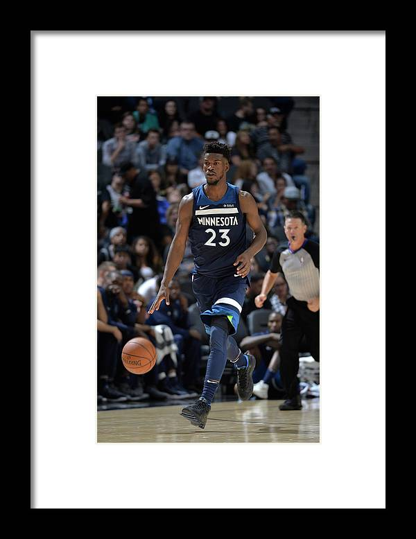 Nba Pro Basketball Framed Print featuring the photograph Jimmy Butler by Mark Sobhani