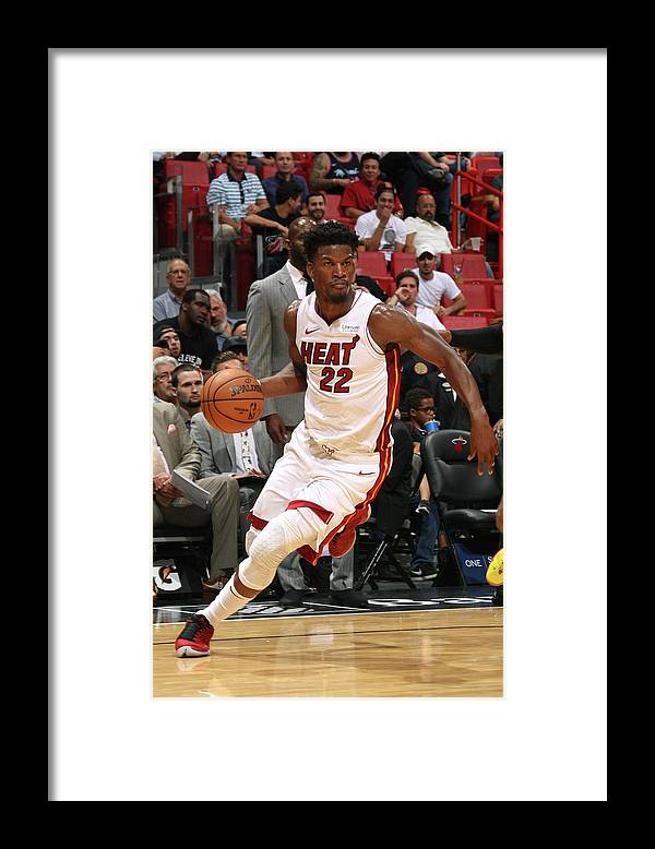 Nba Pro Basketball Framed Print featuring the photograph Jimmy Butler by Oscar Baldizon