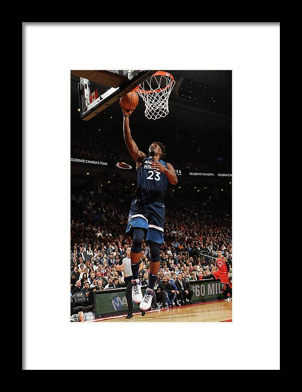 Nba Pro Basketball Framed Print featuring the photograph Jimmy Butler by Ron Turenne