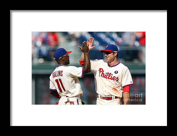Citizens Bank Park Framed Print featuring the photograph Jimmy Rollins and Chase Utley by Hunter Martin