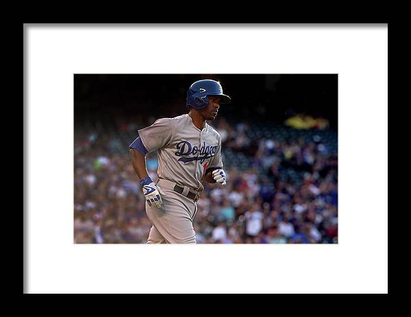 Second Inning Framed Print featuring the photograph Jimmy Rollins And Kyle Kendrick by Doug Pensinger