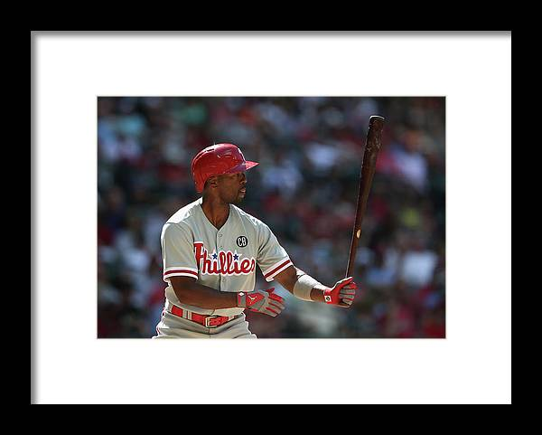 National League Baseball Framed Print featuring the photograph Jimmy Rollins by Christian Petersen