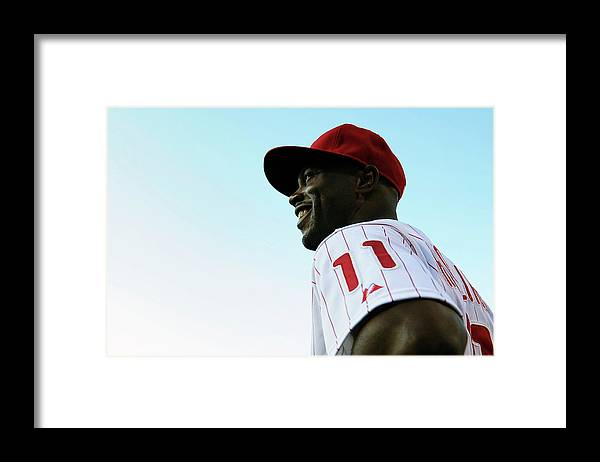 Citizens Bank Park Framed Print featuring the photograph Jimmy Rollins by Drew Hallowell