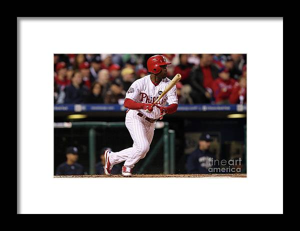 American League Baseball Framed Print featuring the photograph Jimmy Rollins by Jed Jacobsohn