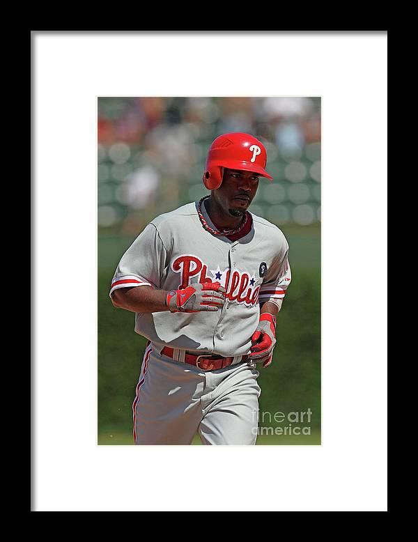 National League Baseball Framed Print featuring the photograph Jimmy Rollins by Jonathan Daniel